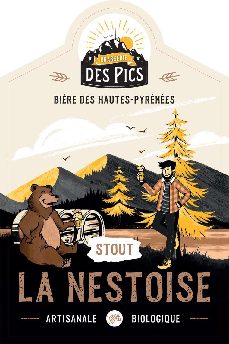 La Nestoise Stout - Brasserie des Pics